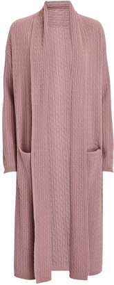 SABLYN Rio Cable Knit Cashmere Duster Cardigan