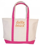 The Well Appointed House Natural Canvas Boat Tote with Pink Trim-Can Be Personalized-Available in Two Different Sizes