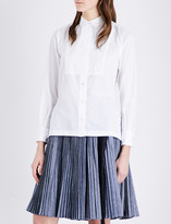Sacai Pleated-back woven shirt