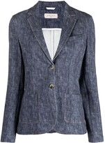 Thumbnail for your product : Circolo 1901 Single-Breasted Chambray Blazer