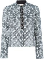 Tory Burch geometric pattern jacket - women - Cotton/Acrylic/Polyester/Viscose - 8