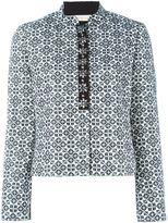 Tory Burch geometric pattern jacket - women - Cotton/Viscose/Acrylic/Polyester - 2