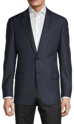 Armani Collezioni Wool Windowpane Jacket