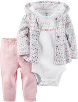 Carter's 3-pc. Geo-Print Layette Set - Baby Girls newborn-24m
