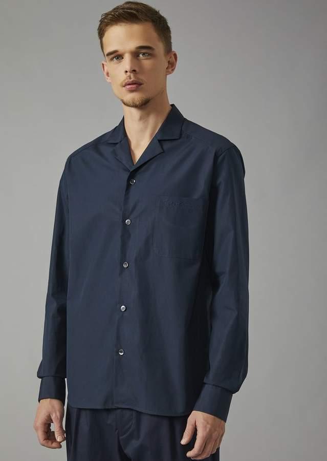 Giorgio Armani Exclusive Cotton Shirt With Lapel Collar