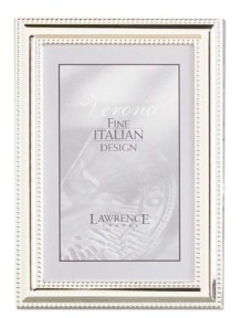 """Lawrence Frames Metal Picture Frame Silver-Plate with Delicate Beading - 5"""" x 7"""""""