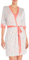 Jessica Simpson Two-Piece Paisley Print Robe and Nightgown Set
