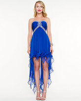 Le Château Embellished Chiffon High-Low Gown