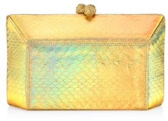 Nancy Gonzalez Gramercy Snakeskin Box Clutch