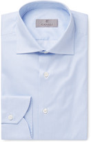 Canali Blue Striped Cotton Shirt
