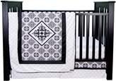 Trend Lab Versailles and White 3 Piece Crib Bedding Set
