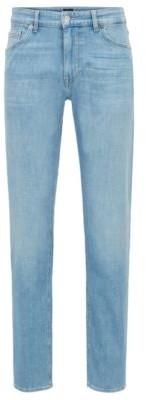 HUGO BOSS Regular Fit Jeans In Bright Blue Italian Denim - Turquoise