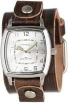 Nemesis Unisex S17BVGB Elegant Square Vintage Silver Watch