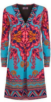 Hale Bob Embellished Floral Dress