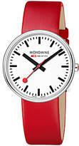 Mondaine Unisex Mini Giant Leather Strap Watch