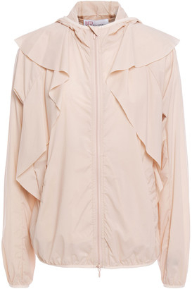 RED Valentino Ruffled Stretch-shell Hooded Jacket