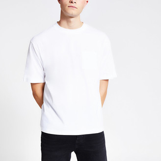 River Island White short sleeve boxy T-shirt