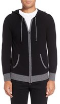 Michael Stars Men's Zip Front Wool Blend Hoodie