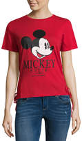 Freeze Short Sleeve Mickey Mouse Lace Up Side T-Shirt