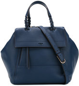 Tory Burch braided strap flap tote