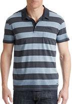 BOSS ORANGE Block Stripe Cotton Polo