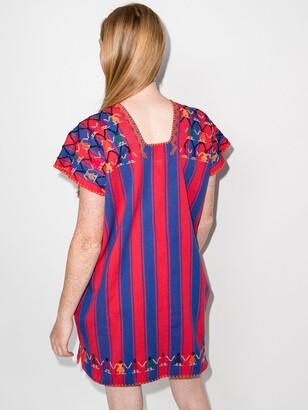 Pippa Striped Short-Sleeved Dress