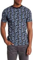 Knowledge Cotton Apparel Short Sleeve Floral Print Tee