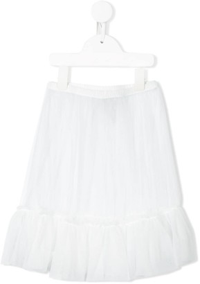 Il Gufo Gathered Tulle Skirt