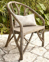 Horchow Artemis Faux-Bois Chair