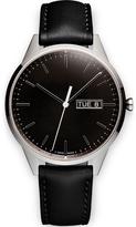 Uniform Wares C40 Polished Steel Italian Nappa Leather Wristwatch Black