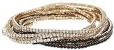 GUESS 10-Piece Stone Stretch Bracelet Set (Gold/Jet) Bracelet