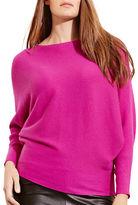 Lauren Ralph Lauren Plus Cotton-Blend Dolman Sweater