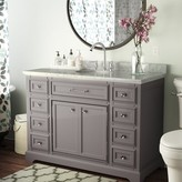 "Three Posts Bergin 48"" Single Bathroom Vanity Set Base Finish: Gray"