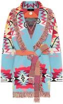 Alanui Cali Star jacquard cashmere-blend cardigan