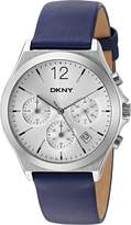 DKNY Women's 'Parsons' Quartz Stainless Steel and Leather Casual Watch, Color: (Model: NY2476)