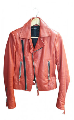 Balenciaga Red Leather Leather jackets