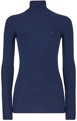 Fendi Ribbed Wool, Silk & Cashmere Turtleneck