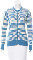 Tory Burch Striped Cashmere Cardigan