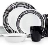 Corelle Brushed Black 16-Pc. Dinnerware Set, Service for 4
