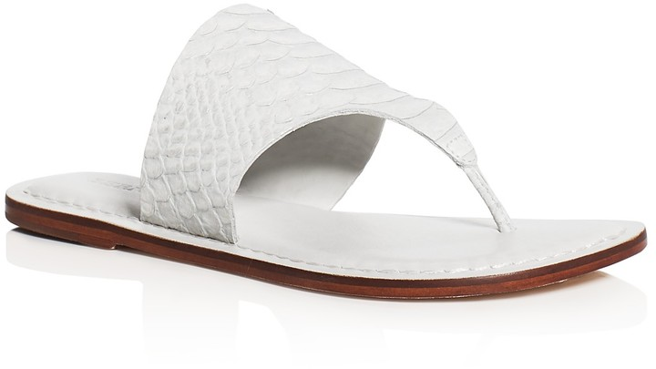 Bernardo Monica Croc Embossed Thong Sandals