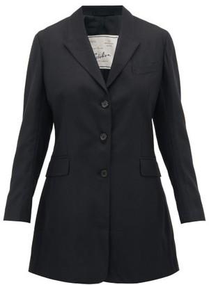 Giuliva Heritage Collection Karen Tailored Virgin Wool-twill Blazer - Black