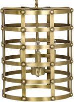 Noir Barrel Pendant, Antiqued Brass