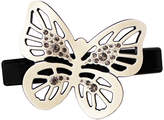 Smallflower Ivory Butterfly + Diamond Barrette by Moliabal Milano