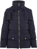 Burberry Convertible Hooded Quilted Shell Down Jacket - Navy