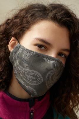 Iets Frans... iets frans. Paisley Face Mask - Grey ALL at Urban Outfitters