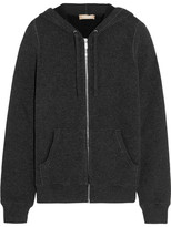 Michael Kors Cashmere-blend Hooded Top - Charcoal