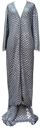Gianfranco Ferre Silver Silk Jumpsuit for Women Vintage