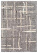 "Surya Fanfare Modern Medium Gray, Light Gray Area Rug, 5'x7'6"""
