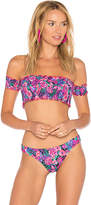 Salinas Off the Shoulder Bandeau Top in Purple. - size M (also in S)