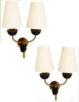 One Kings Lane Vintage French Wall Sconces by Andre Arbus, Pair